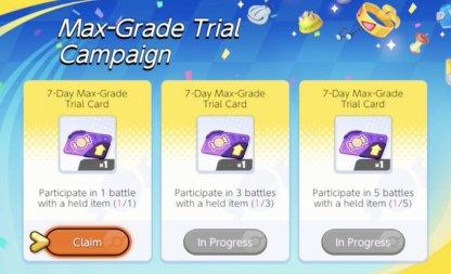 Max-Grade Trial Campaign