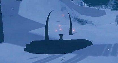 Find Black Altar With 2 Arcs & Pedestal