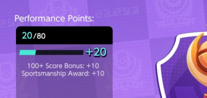 Receive Performance Points