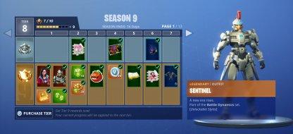 Sentinel Unlocked Upon Purchasing the Battle Pass