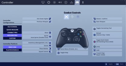 Switch to Builder Pro Controller Settings