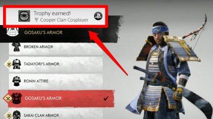 Unlock Cooper Clan Cosplayer Trophy