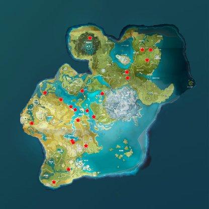 Fish Location Map