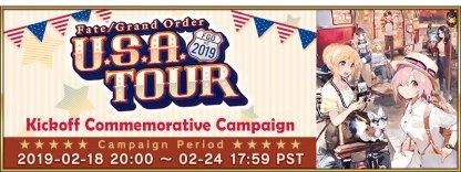 FGO U.S.A. Tour 2019 Campaign banner