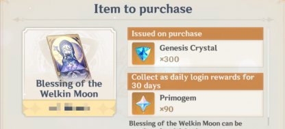 Blessing Of The Welkin Moon