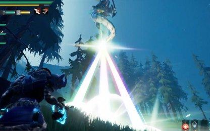 Flying End-Game Behemoth With Laser Attacks