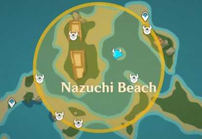 Treasure Area 2 - Iron Coin Locations Nazuchi Beach