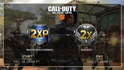 CoD: BO4, Double XP (2XP) Weekend Event Dates (Updated Dec. 17)