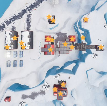 Fornite Battle Royale Season 7 Week 7 Challenge Search Chests in Leaky Lake or Polar Peaks