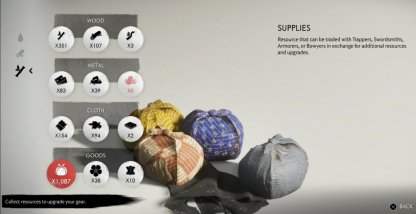 Supplies Found On Settlements & Enemy Bases