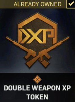 Double Weapon XP Token