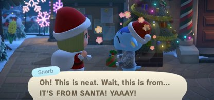 Gives Out Presents To Villagers