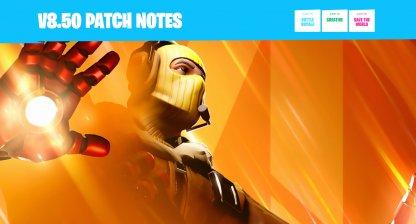 v8.50 Update Brings Avengers to Fortnite