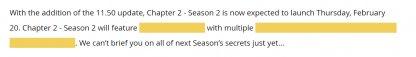 Season 2 Official Update
