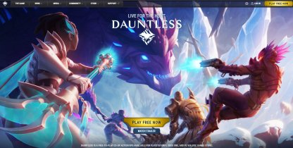 Head To The Dauntless Website
