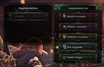 Available Weapon Augment Options