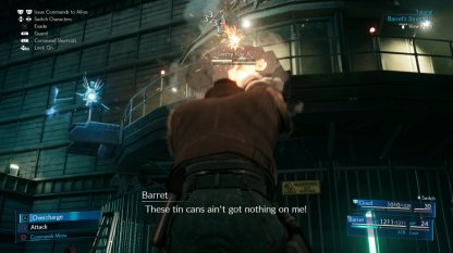 Barret for ranged attacks
