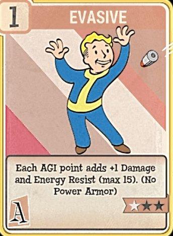 fallout 76 Perk Card Agility Evasive