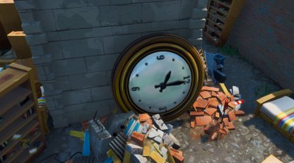 Clock in Junk Junction close up