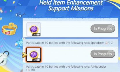 Do Held Item Enhancement Support Missions