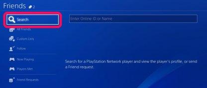 Step 2: Search via PSN ID