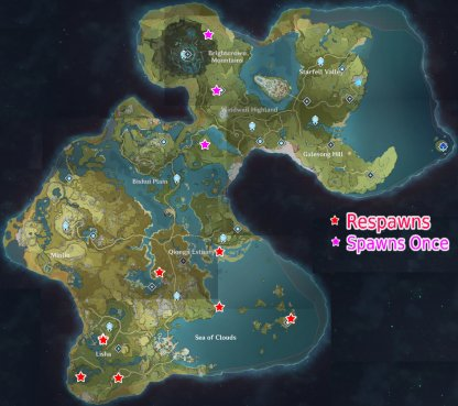 Hydro Abyss Mage Locations
