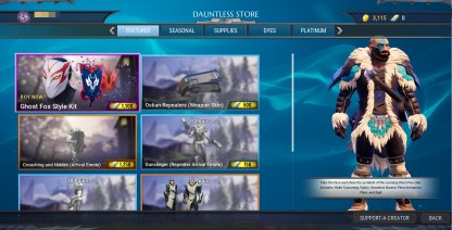 The Dauntless Store - What Can You Buy In The In-Game Store?