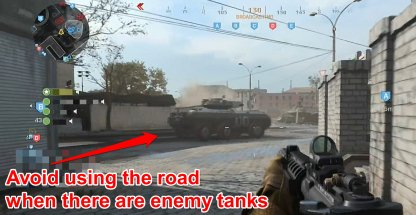 Avoid Roads When There Are Tanks