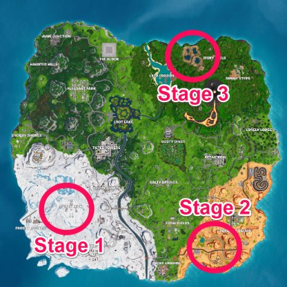 Dance Between Staged Challenge - Locations