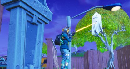 Fortnitemares Challenges Part 2 Destroy Ghost Decorations