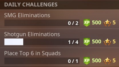 Daily Challenges & Rewards Example