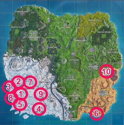 Fortnite Season 7 Secret Battle Star & Banner Locations Guide
