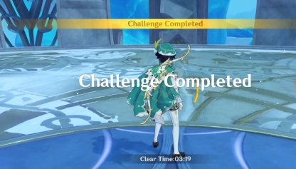 Challenge Complete When All Enemies Are Defeated