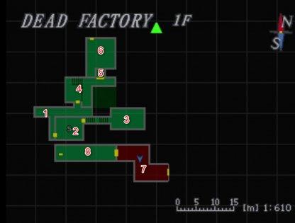 Dead Factory 1F Map