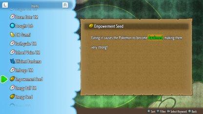 Feed Pokemon Empowerment Seed