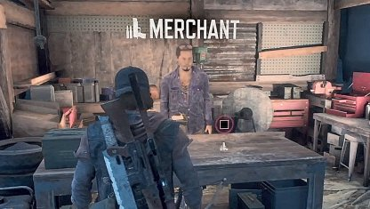 Purchase Weapons, Ammo at the Merchant
