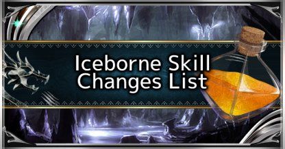 Iceborne Skill Changes