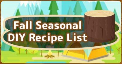 Fall DIY Recipe List