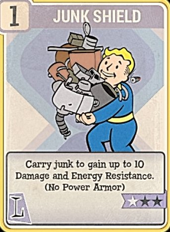 Fallout 76 Perk Card Luck Junk Shield