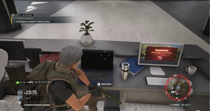 Use the Laptop on the Lobby Desk