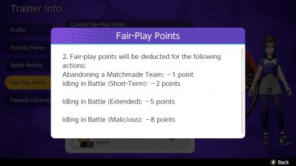 Lose Points Condition