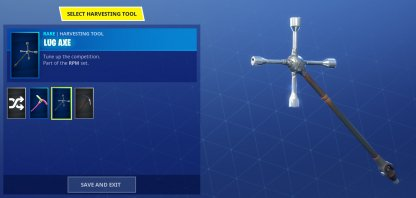 Equipping Your Pickaxe Skin