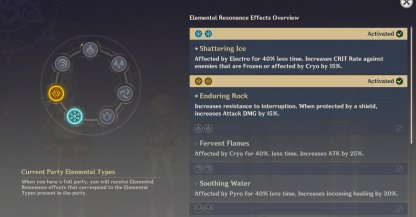 Can Have More Than 1 Elemental Resonance