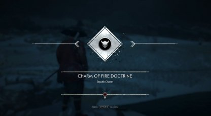 Receive Charm of Fire Doctrine