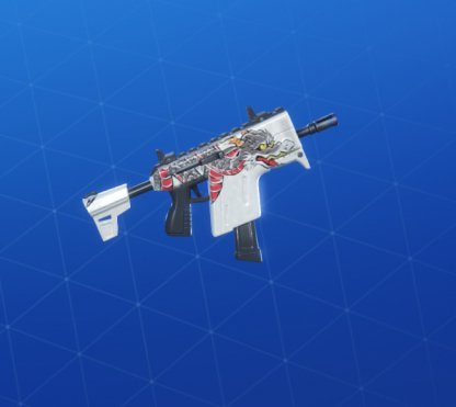 WHITE DRAGON Wrap - Submachine Gun