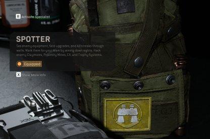 Equip Spotter Perk