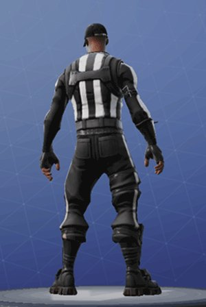 STRIPED SOLDIER Back