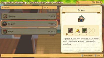 Develop Farm Facilities