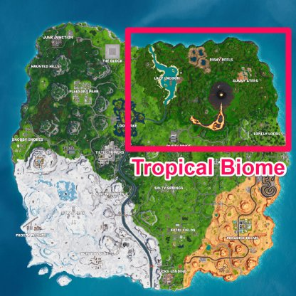 Banana Location - Tropical Biome