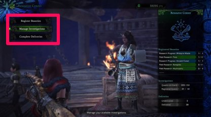 Register Investigation Quests At The Resource Center